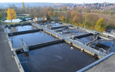 Wastewater treatment plant in the town of Kitzingen